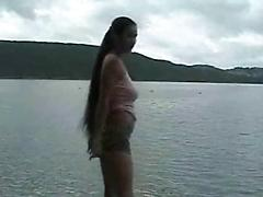 Public Nudity Stripping At The Lake