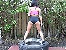 Bootie Workout: squats and rectal sex!