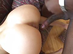 White Tight Ass Gets Hard Black Long Cock