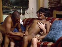 Cute Black Milf Takes On 2 Dicks