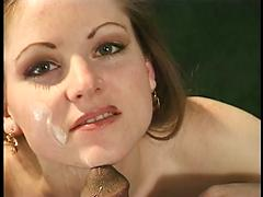 Cherry Takes Chocolate Cock Down Her Throat