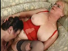 Old Granny Lesbians Play With The Hot Clits