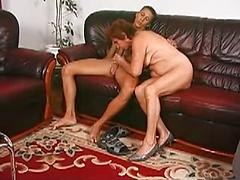German Granny Gets Yound Stud To Suck And Fuck On