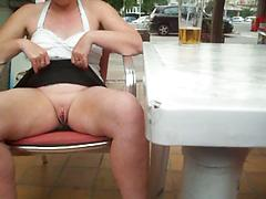 Milf Spreads Her Legs Under The Table For Good View