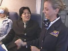 Sexy Stewardess Gives A Mile High Blow Job
