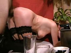 Matured Milf Gets Gag And Fucked In Doggy Style