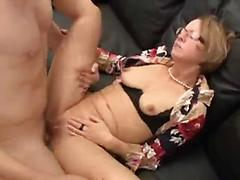 Mature Lady Spreads Her Pink Pussy While Getting Ass Filled
