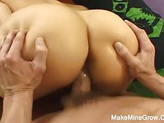 Brunette Milf With Monster Melons Getting Slammed