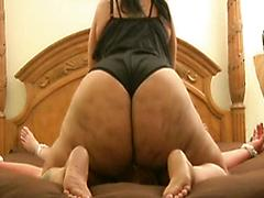 Black Chick Bends Over To Show Off Her Big Lumpy Bottom