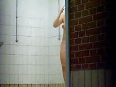 Sexy Ladies Are Spied On In The Shower Stalls