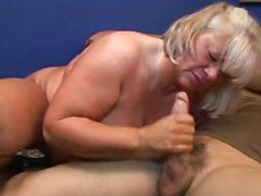 Brenda Grace - Hairy Mature Grandma Plays With Dildos And Cock