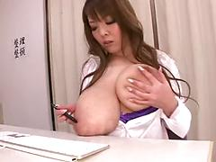 Asian In Panties Shows Off Her Big Tits And Masturbates Pussy