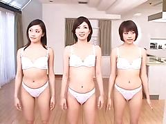 Three Hot Girls In Lingerie Let Some Huge Cocks Have Their Way