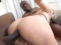 Cute Blond Loves To Suck And Fuck Big Black Cock