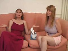 Mature Housewives Show Each Other Their Tits
