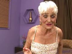 Sexy Blonde Granny Gets All Dressed Up For A Date