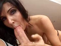 Dark Haired Girl Loves To Suck And Fuck On The Couch