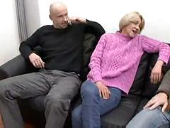 Husband And Friend Double Team This Granny