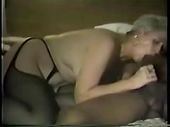 Horny White Mature Babe Taking A Monster Black Cock