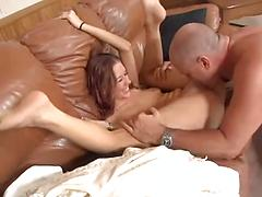 Stepdaughter Sucks Her Stepdad's Cock And Sucks On Her Toes