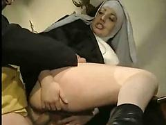 Church Nun Gets Freaky And Blows And Fucks