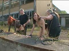 German Submissives Get Played With Indoors And Out