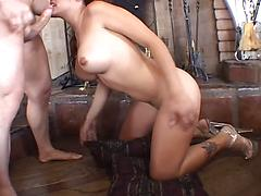 One Hot Babe With Large Tits Gets Fucked.