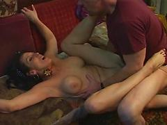 Slutty Lady Satisfies His Kinky Needs With Her Feet And Ass