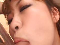 Cute Asian Red Head Gets Double Penetration
