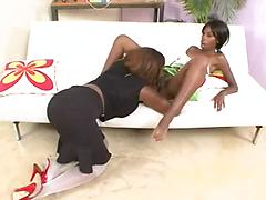 These Ebony Lesbians Are In Need Of More Pussy