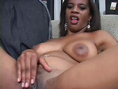 Ebony Babe Taking Black Cock Deep In That Pussy For A Load