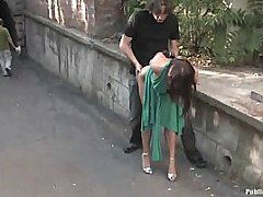 Hot Chick Punished And Fucked In Public Places