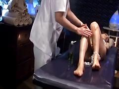 Beautiful Asian Gets A Special Creampie Ending To Her Massage