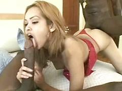 Two Thick Black Dicks Stretch Blonde's Tight Pussy