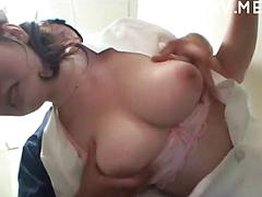 Japanese Chick Gets Plungers Used On Her Titties