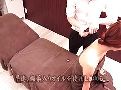Small Tit Asian Girl Getting Rubbed On The Massage Table