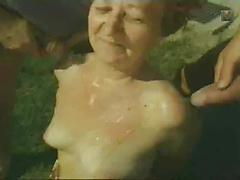 Outdoor Fuck Fest Between Old Lady And Guys
