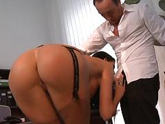 Slut in high heels and stockings (anal and facial)
