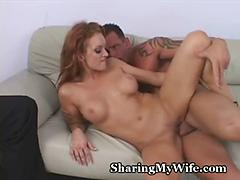 Wife's fire crotch drilled by stud