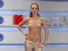 Russian chick saying the news!