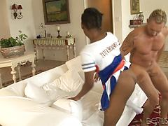 Trampy Ashton wants rock-hard boner deep in her cock-squeezing ebony beaver.