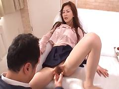 Horny Asian couple please each other with an oral action and fuck crazily