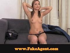 Babe shows off her skills at the casting to get a job