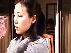 Japanese minx gets involved into a nasty group sex action