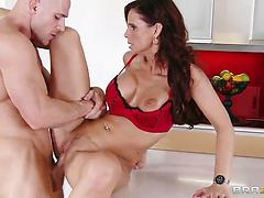 Voluptuous pornstar Syren De Mer gets licked and nailed by a bald dude