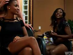 Mouthwatering ebony model Mckenzie Sweet gets fucked and facialized