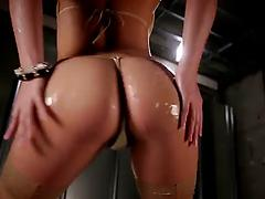 Gorgeous Asian stunner with divine ass rammed from behind