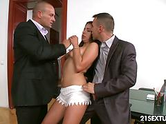 Nimble Ally Throatfucked In The Office