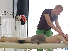 Skinny Teen Assfucked On The Massage Table
