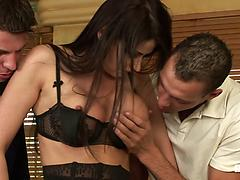 Eva Fucked In Three Holes At Once